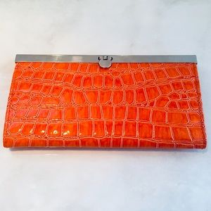 🆕 NWT 🍊 Croc embossed patent wallet